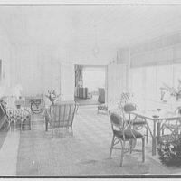Robert Scott, residence in Vero Beach, Florida. Porch, to living room