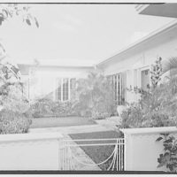 Samuel Lerner, residence at 1000 N.E. 72nd Terrace, Miami, Florida. Detail, entrance facade