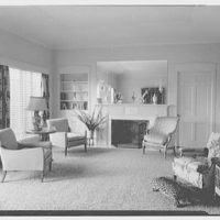 Samuel Lerner, residence at 1000 N.E. 72nd Terrace, Miami, Florida. Living room