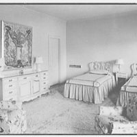 Sidney Vere-Smith, residence at 1440 S. Ocean Blvd., Palm Beach, Florida. Daughter's bedroom