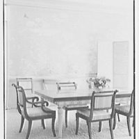 Sidney Vere-Smith, residence at 1440 S. Ocean Blvd., Palm Beach, Florida. Dining room, vertical detail