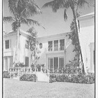 Sidney Vere-Smith, residence at 1440 S. Ocean Blvd., Palm Beach, Florida. Lake facade, center section