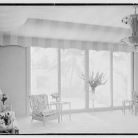 Sidney Vere-Smith, residence at 1440 S. Ocean Blvd., Palm Beach, Florida. Loggia, to patio