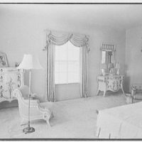 Sidney Vere-Smith, residence at 1440 S. Ocean Blvd., Palm Beach, Florida. Mrs. Smith's bedroom