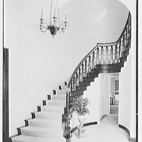 Sidney Vere-Smith, residence at 1440 S. Ocean Blvd., Palm Beach, Florida. Staircase