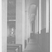 St. Helena's Church and School, Benedict and Olmstead Aves., Bronx, New York. Chancel and side aisle
