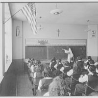 St. Helena's Church and School, Benedict and Olmstead Aves., Bronx, New York. Girls' classroom