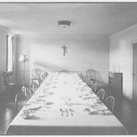 St. Helena's Church and School, Benedict and Olmstead Aves., Bronx, New York. Refectory