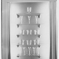 Steuben Glass, business at 718 5th Ave., New York City. Antique English and Irish glass IX