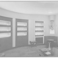 Steuben Glass, business at 718 5th Ave., New York City. Rear room, side view
