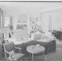 W.D. Pawley, residence at Sunset Island, no. 2, Miami Beach, Florida. Living room, to bar