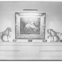 William S. Paley, residence in Manhasset, Long Island. Living room mantel detail