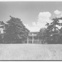 William S. Paley, residence in Manhasset, Long Island, New York. West facade, general view