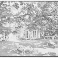 William S. Paley, residence in Manhasset, Long Island. Terrace, to house I