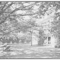 William S. Paley, residence in Manhasset, Long Island. Terrace, to house II
