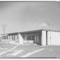 Aluminum City Terrace, New Kensington, Pennsylvania. Community building and manager's office