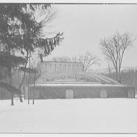 Berkshire Music Center, Lenox, Massachusetts. Opera house, exterior III, from left