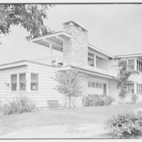 Bertram F. Willcox, residence in Pound Ridge, New York. Entrance facade