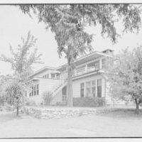 Bertram F. Willcox, residence in Pound Ridge, New York. Rear facade