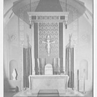 Cardinal Hayes High School, Grand Concourse, Bronx, New York. Detail of chapel altar