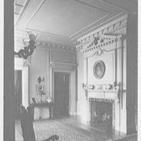 Edgar W. Heller, residence at 368 Mt. Prospect Ave., Newark, New Jersey Hall, fireplace
