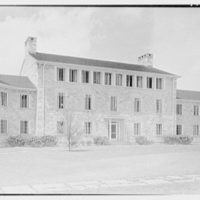Goucher College, Mary Fisher Hall, Towson, Maryland. Southeast facade from left