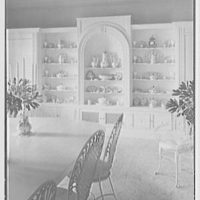 Gypsy Rose Lee, residence at 153 E. 63rd St., New York City. China cabinet, in dining room I