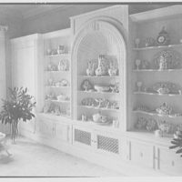 Gypsy Rose Lee, residence at 153 E. 63rd St., New York City. China cabinet, in dining room II