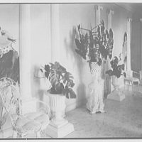 Gypsy Rose Lee, residence at 153 E. 63rd St., New York City. Dining room, columns and murals