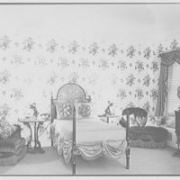 Gypsy Rose Lee, residence at 153 E. 63rd St., New York City. Her bedroom, to bed