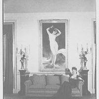 Gypsy Rose Lee, residence at 153 E. 63rd St., New York City. Herself under the Bougereau, pose I