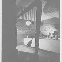 Harrisburg U.S.O., Penn Station, Harrisburg, Pennsylvania. Detail of reception desk, and lettering