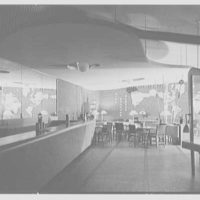 Harrisburg U.S.O., Penn Station, Harrisburg, Pennsylvania. General interior, from entrance, top lights off