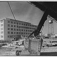 Hoffmann-LaRoche Inc., Nutley, New Jersey. Building 34, through steam shovel