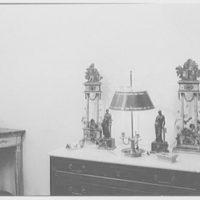 House & garden close-ups, Josephine Howell, 41 E. 57th St. Lamp, and pediment