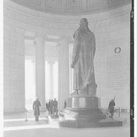 Jefferson Memorial, Washington, D.C. Statue from rear, to basin