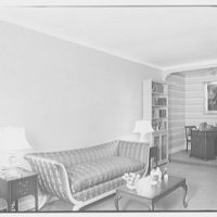 Lester Wolff, residence. Living room, to niche