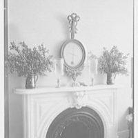 Margaret Sommerfeld, residence at 168 E. 64th St., New York City. Living room, fireplace, top detail