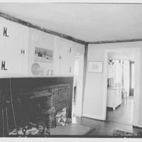 Mr. Ernest Fiene, residence in South Berry, Connecticut. Dining room, to fireplace