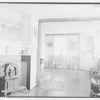Mr. Ernest Fiene, residence in South Berry, Connecticut. Living room, to fireplace