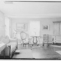 Mr. Ernest Fiene, residence in South Berry, Connecticut. Living room, to sofa