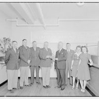 Mr. McLachlen and son, also Mr. Button of Schick Razor Co. Opening of branch office at Quartermaster General's, U.S. Army I