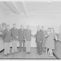 Mr. McLachlen and son, also Mr. Button of Schick Razor Co. Opening of branch office at Quartermaster General's, U.S. Army IV