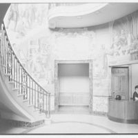 Poughkeepsie New Yorker Building, Poughkeepsie, New York. Entrance lobby with receptionist