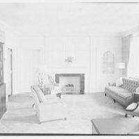 Poughkeepsie New Yorker Building, Poughkeepsie, New York. Mr. Speidel's office, to fireplace