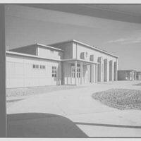 Residence Halls, Arlington Farms, Arlington, Virginia. Recreation building, exterior