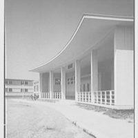 Residence Halls, West Potomac, Washington, D.C. Barton Hall, entrance detail