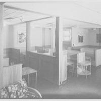 Residence Halls, West Potomac, Washington, D.C. Barton Hall, lounge booths