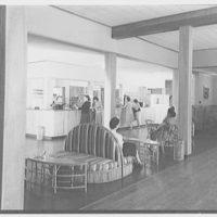 Residence Halls, West Potomac, Washington, D.C. Barton Hall, lounge to desk