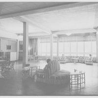 Residence Halls, West Potomac, Washington, D.C. Barton Hall, lounge to window